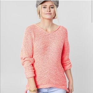 NWT Bright Lights free people pink slouchy sweater
